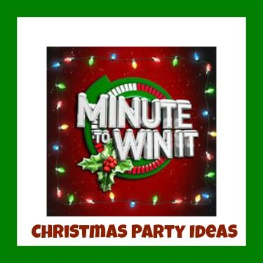 MINUTE to WIN IT Party New years Christmas, Party, Christmas
