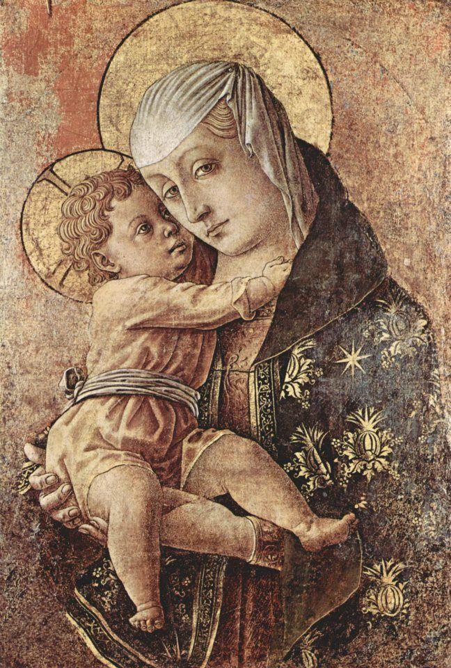 Carlo Crivelli - Madonna, Fragment eines Altares aus der Chiesa degli Osservanti in Macerata