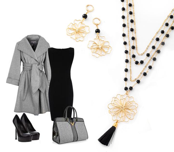 ¿Qué te parece este outfit para la cena de Navidad? No puede faltar tu joyeria #NICE Descubre aquí: http://goo.gl/eMRZrI #jewelry #dress #christmas #collar #aretes #joyeria #outfit
