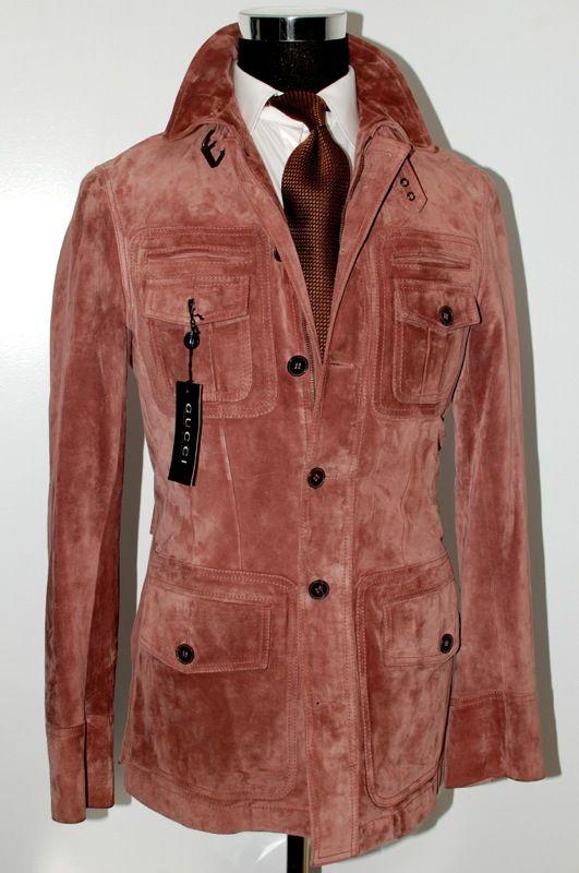 Gucci Jacket (Men's Pre-owned Tom Ford Antique Rose Suede ...