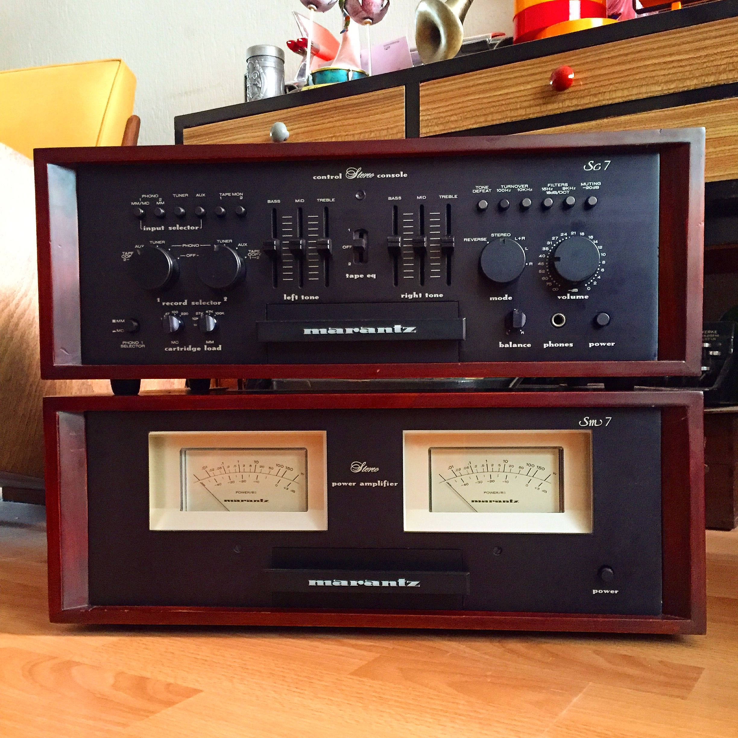 marantz sm 7 sc7 pre power stereovintage amplifiers tonbandger t verst rker musik. Black Bedroom Furniture Sets. Home Design Ideas