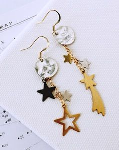 Image of Celestial Realm Mixed Metal Moon & Star Earrings