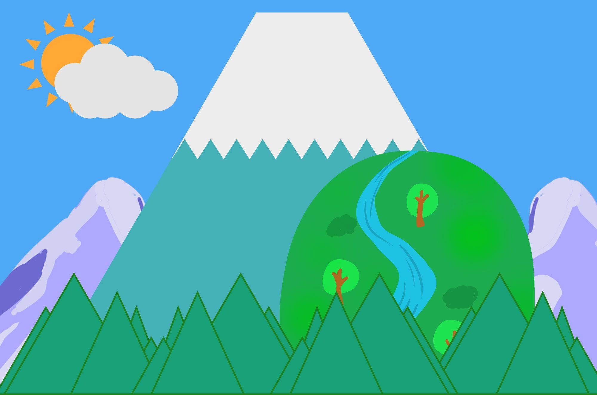 山イラスト 無料で使える可愛い山のイラスト素材集ロッキー山脈や