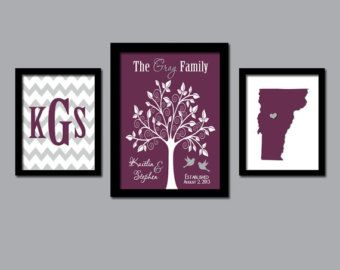 Family Tree Wall Art Personalized Monogram CANVAS or by TRMdesign  sc 1 st  Pinterest & Family Tree Wall Art Personalized Monogram CANVAS or by TRMdesign ...