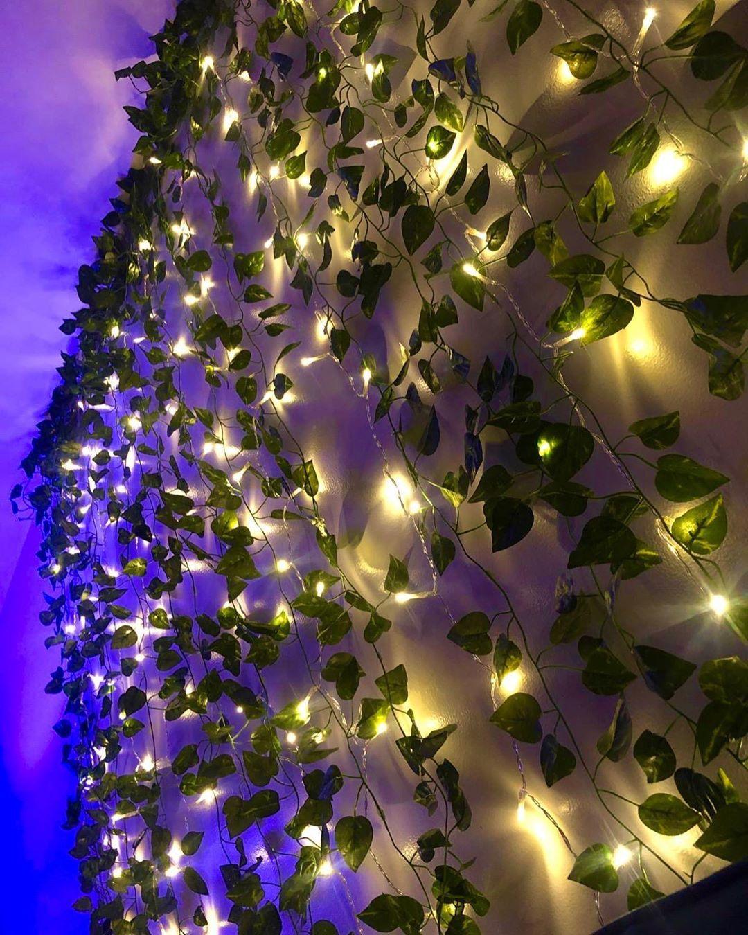 Led Wall Vine Lights In 2020 Led Lighting Bedroom Fairy Lights Bedroom Aesthetic Room Decor