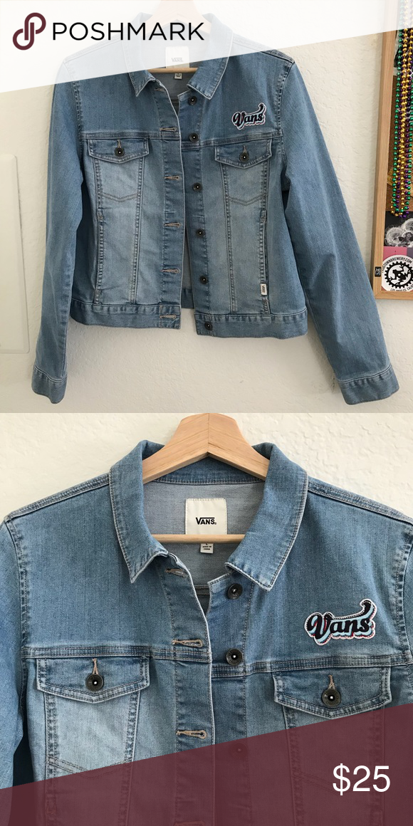 7839a49fc1 Vans girls jacket Vans girls denim jacket. One patch (shown in picture) Vans  Jackets   Coats Jean Jackets