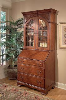 Tall Secretary Desk With Hutch | With Hutch With Glass Doors Oxford Tall  Secretary White Desk