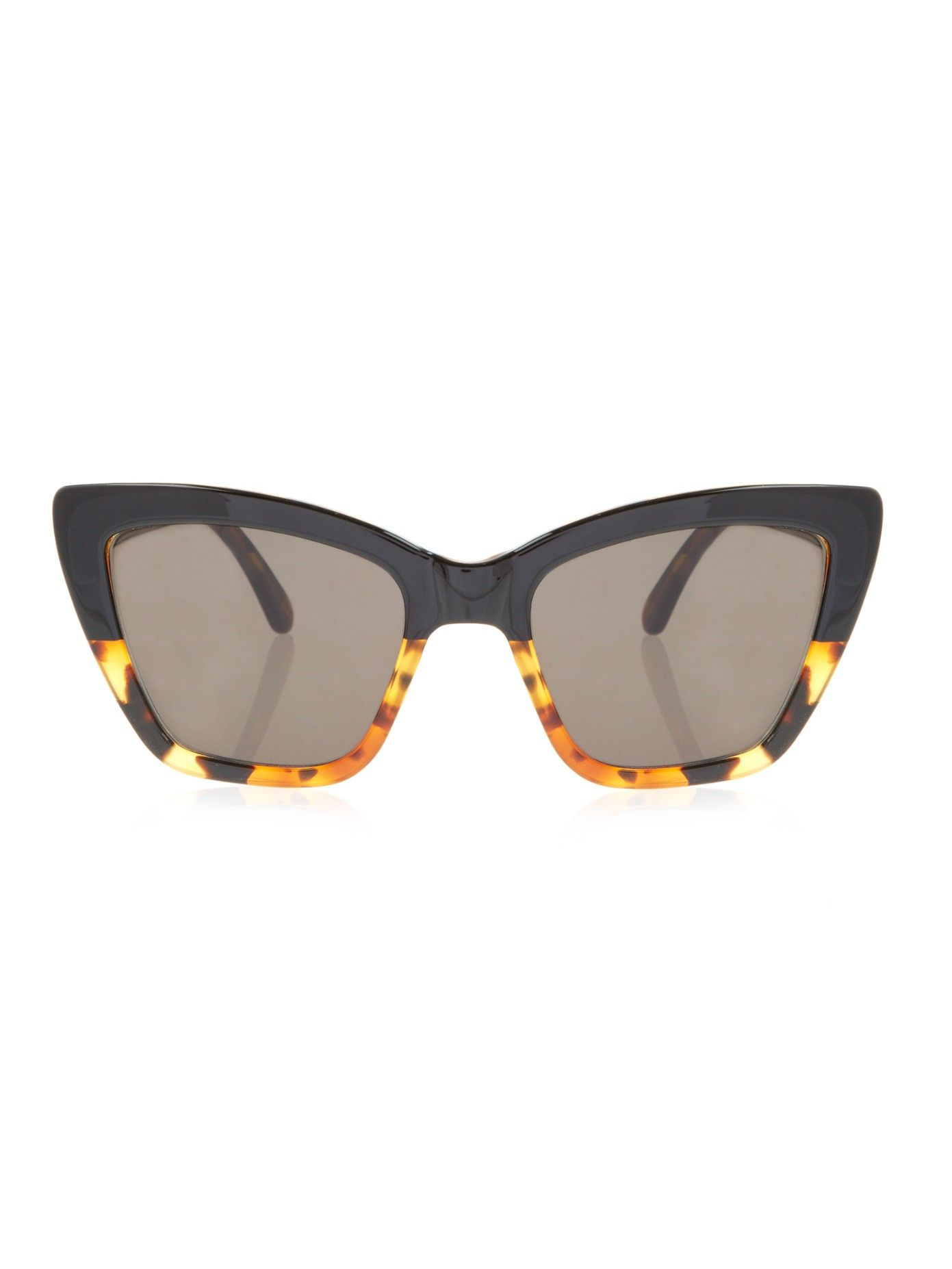 8aef60db1f Calvi two-tone cat-eye sunglasses