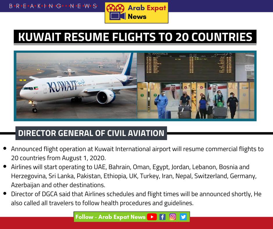 Kuwait Resume Flights To 20 Countries In 2020 Kuwait Resume Expat