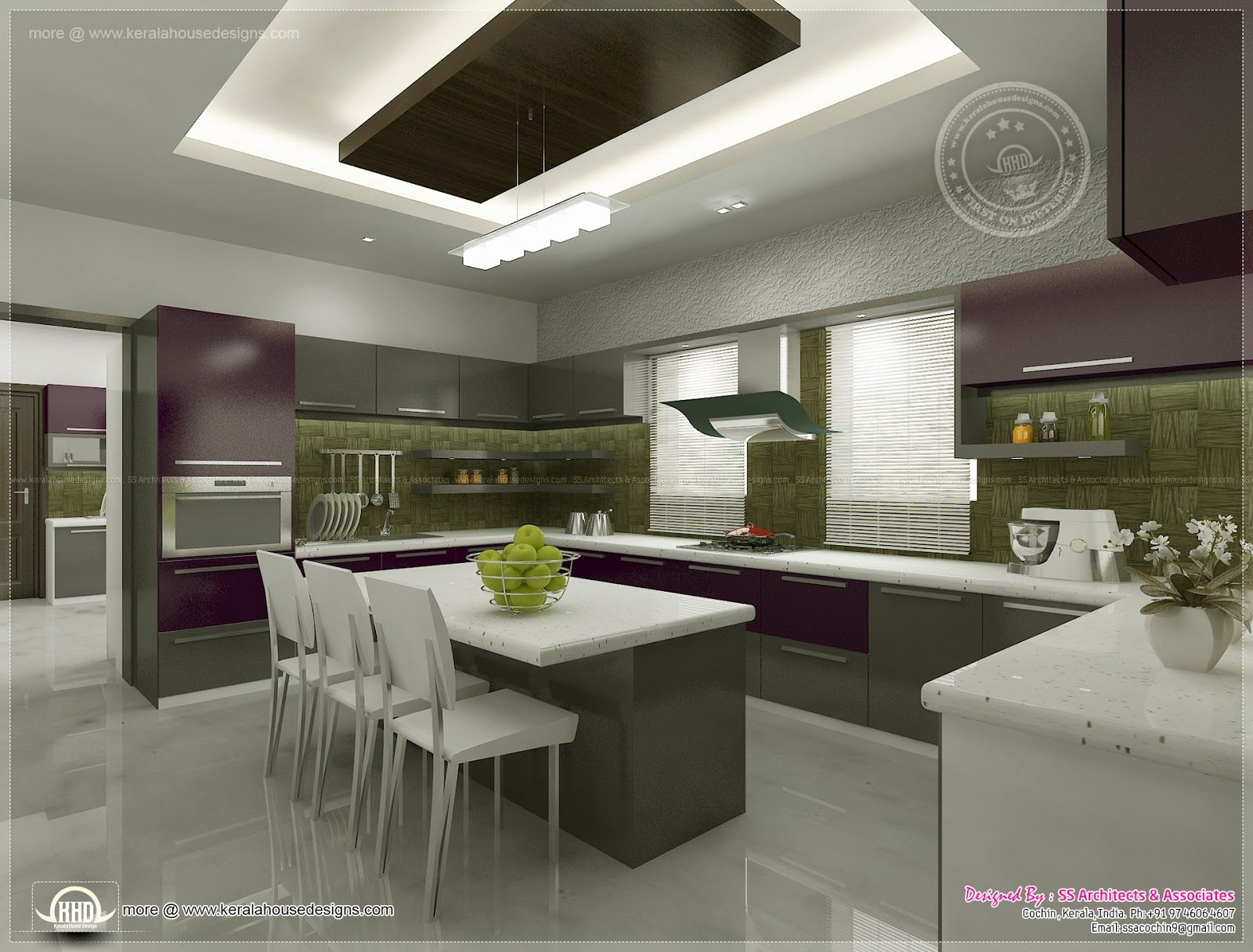 Kitchen Interior Views Ss Architects Cochin Kerala Home Design