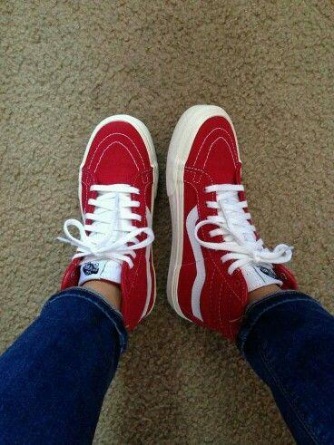 0a0d611894 Red Classic High Top Vans