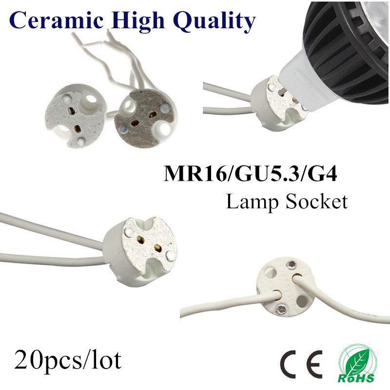 20X MR16 Halter GU5.3 G4 Keramiklampensockel Sockel LED CFL Halogen ...