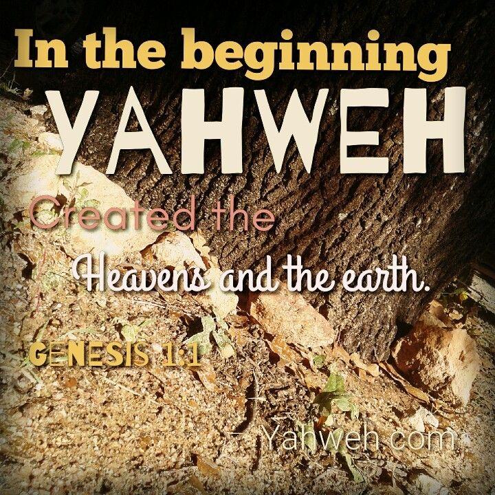 Genesis 1:1 #genesis #creation #yahweh #beginning | Yahweh