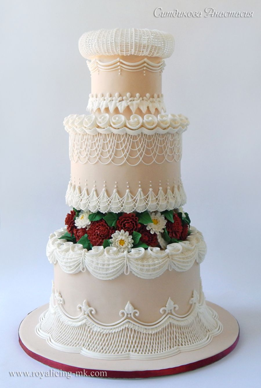 wedding cakes with royal icing royal icing lambeth nirvana royal icing collars 26112