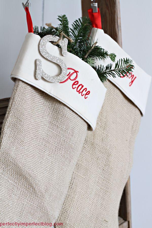 burlap stockings from @Lisa Pennington! :-)