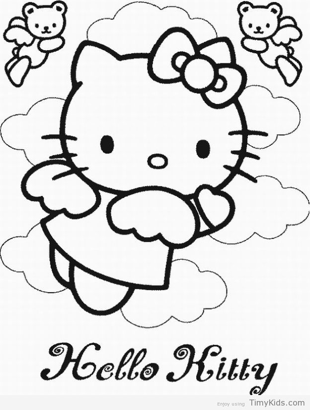 http://timykids.com/free-hello-kitty-coloring-pages.html | Colorings ...
