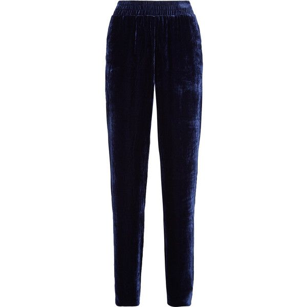 Velvet Track Pants - Midnight blue Dion Lee How Much Sale Online Fake Cheap Online Cheap Prices Reliable x6JB9aZKJd