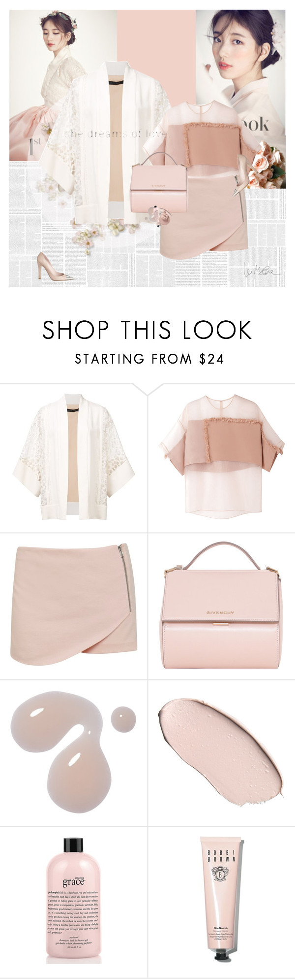 """""""Spring Dreaming"""" by e-laysian ❤ liked on Polyvore featuring Prada, Elie Saab, 3.1 Phillip Lim, Miss Selfridge, Givenchy, philosophy, Bobbi Brown Cosmetics, Valentino and Louis Vuitton"""