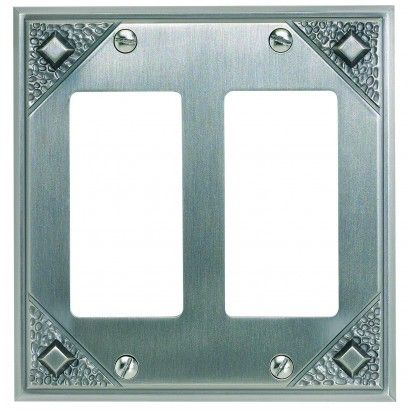 Light Switch Cover for the Dining Room: Atlas Homewares MDR-P Craftsman Collection Double Rocker in Pewter at OverstockDeals.com   OverstockDeals.com