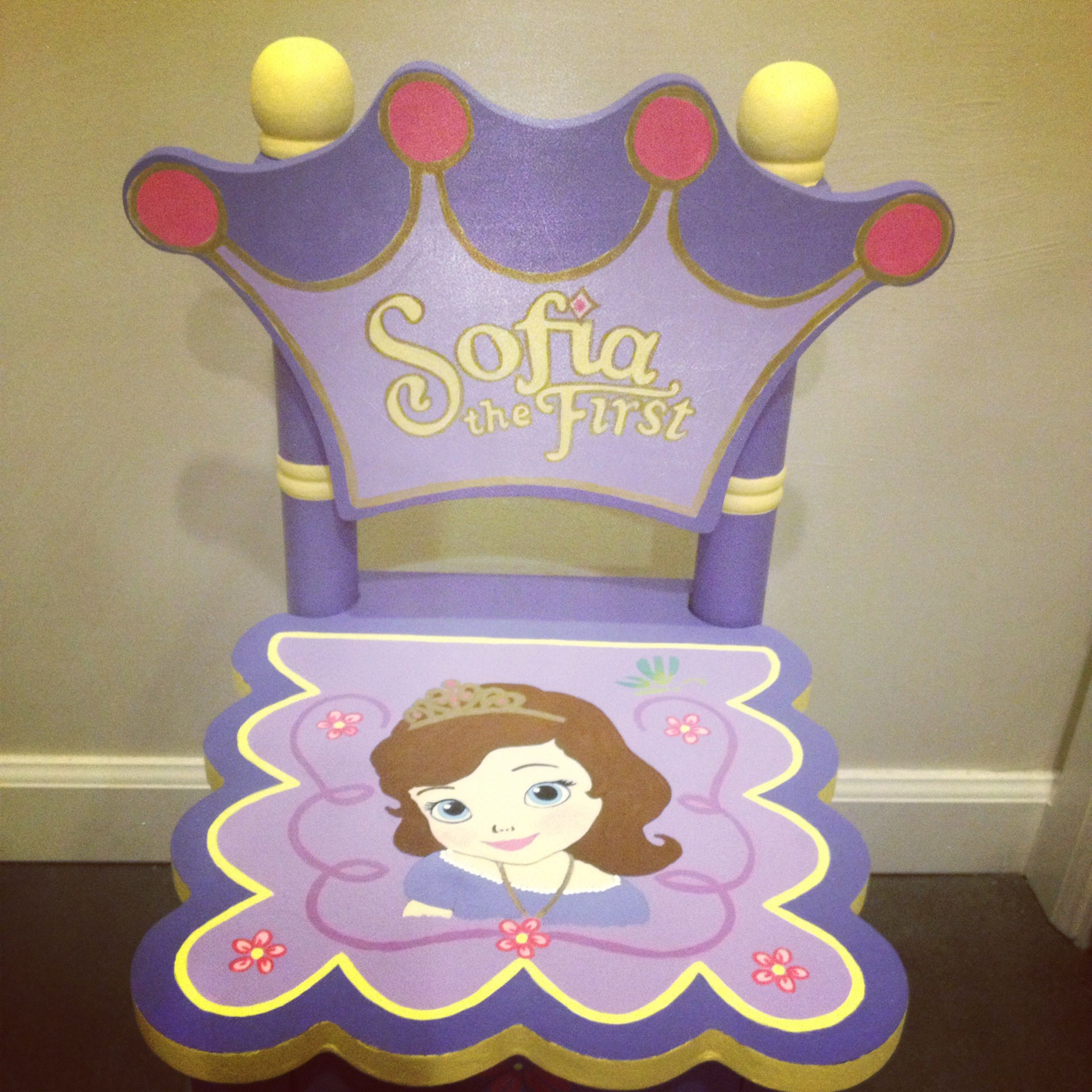 Sofia the first kids toddler chair for little girl Purple and