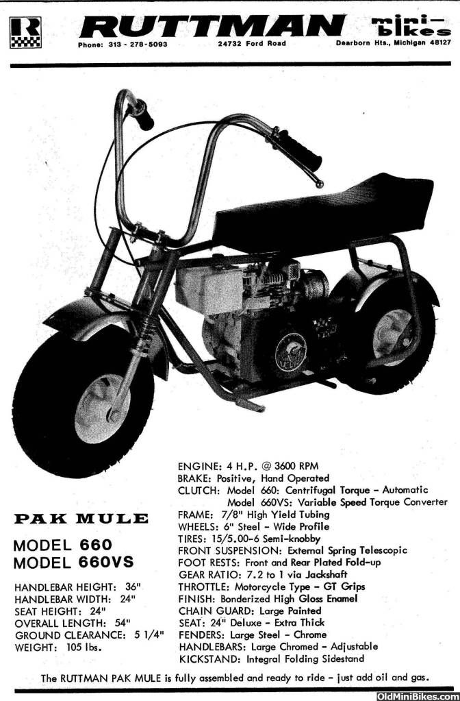 Pin by Keith Williams on Ruttman pak mule mini bike | Pinterest ...