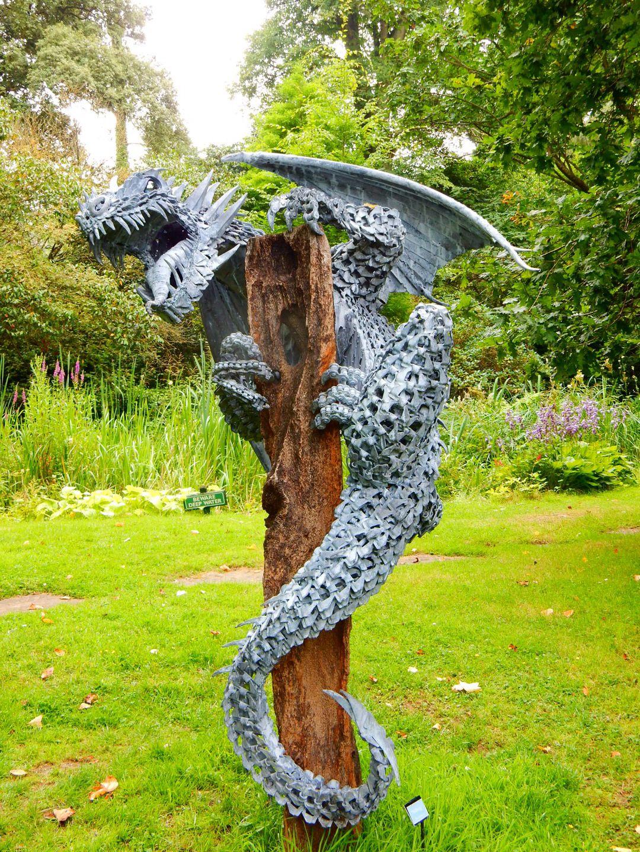 Alan Williams Dragon Sculpture on display in the Azalea ...