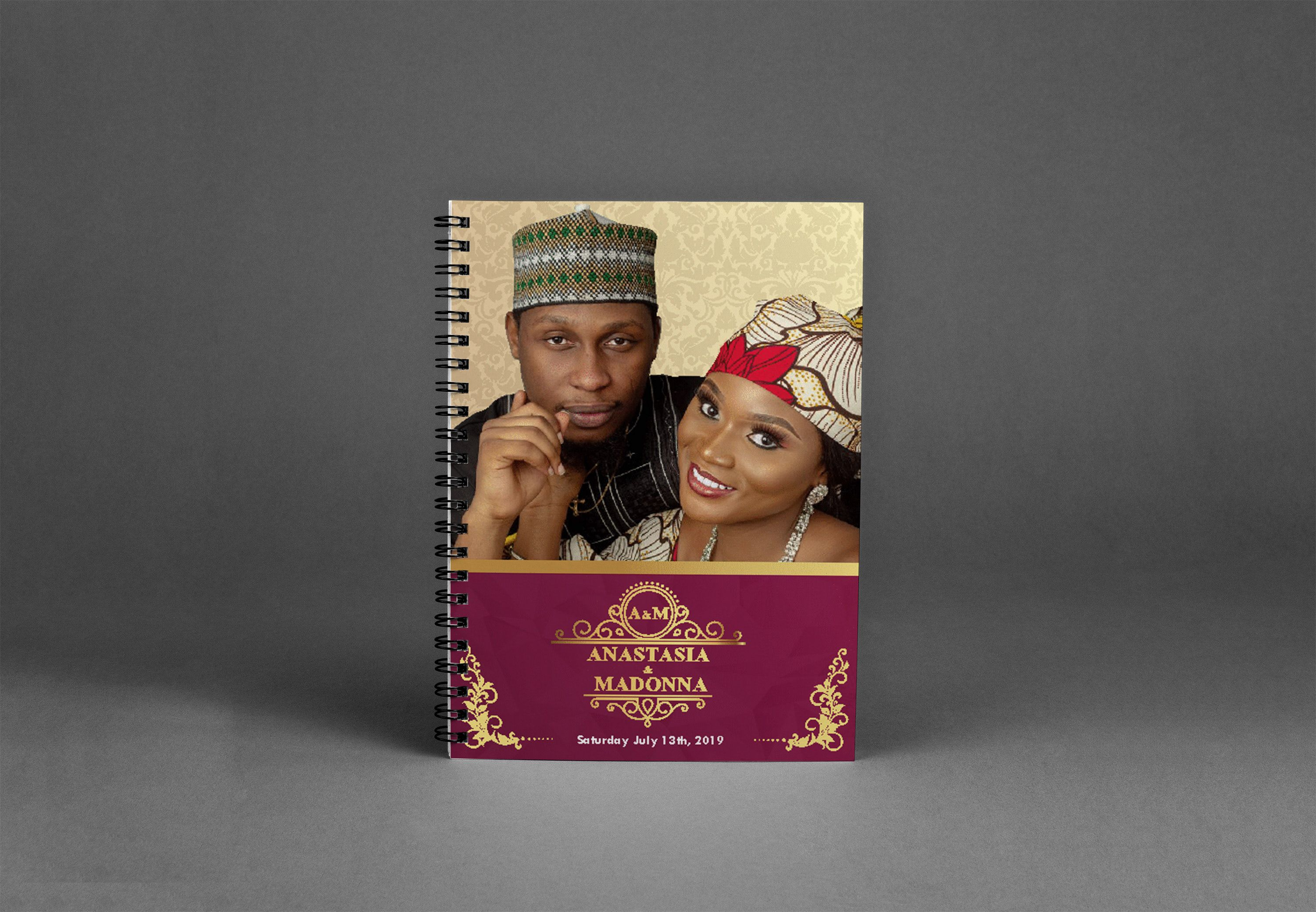 Check Out My Behance Project Wedding Jotter Design Https Www Behance Net Gallery 81706353 Wedding Jotter Design Jotter Design Graphic Design Posters