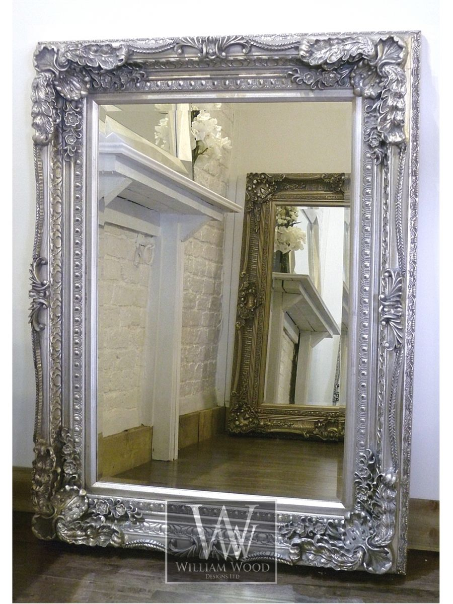 Chelsea 48 X 36 Silver William Wood Designs Mirrors And Lighting Antique Mirror Wall Mirror Wall Bedroom Mirror Wall
