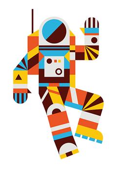 Brave The Woods Paper Illustration Astronaut Illustration Illustration