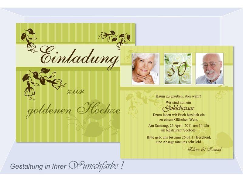 einladungen zur goldenen hochzeit – cloudhash, Einladungsentwurf