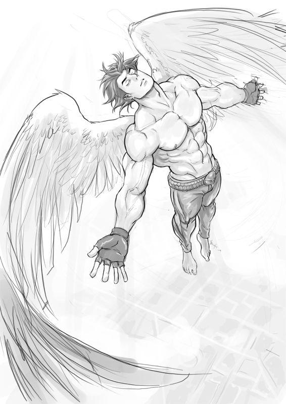 B Angel Flying By Felsus Angel Drawing Angel Flying Angel Illustration