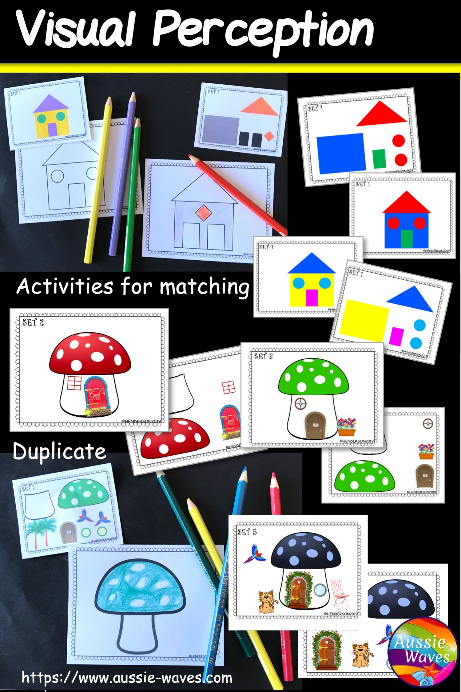 Visual Perception Activities For Kinder And Year 1 Centers