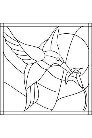 colibrí -para pintar | para clases | Pinterest | Vidrio, Vidrio ...