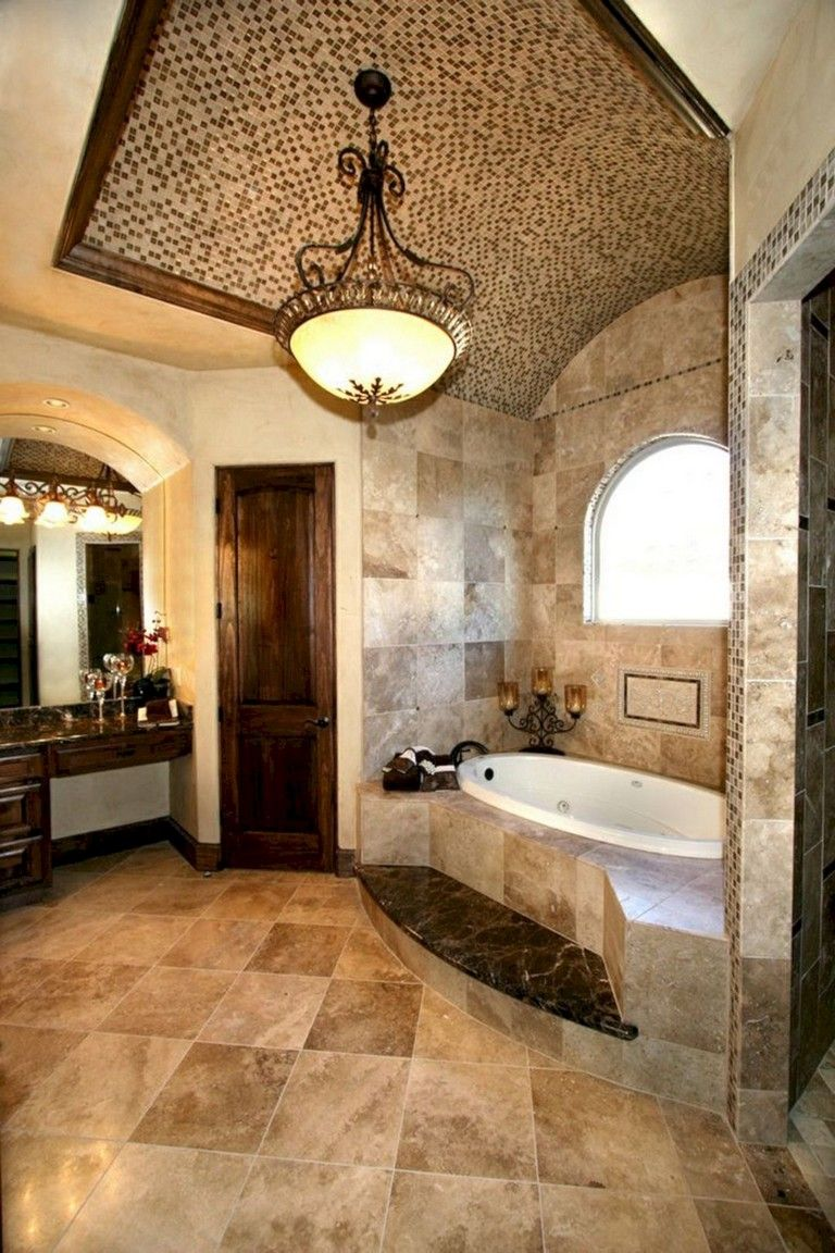65 Elegant Master Bathroom Design Ideas For Amazing Homes Tuscan Bathroom Luxury Master Bathrooms Tuscan Bathroom Decor
