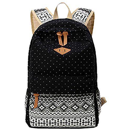 1f2f749196 Partiss Damen Schwalbe Muster Vintage Casual Canvas Haltbare Segeltuch  Taschen Reisetaschen Sporttaschen Schultaschen Rucksack Wanderrucksack ...