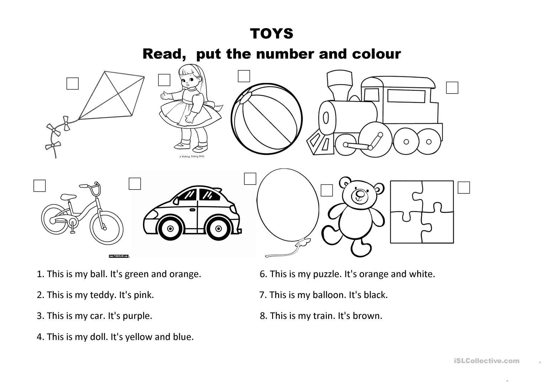 Resultado De Imagen De Toys Worksheets
