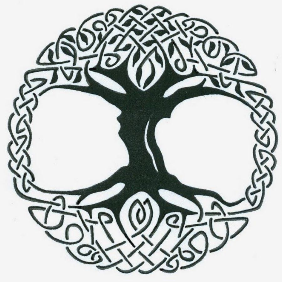 Black Celtic Tree Of Life Tattoo Stencil By Captain Bret Yggdrasil