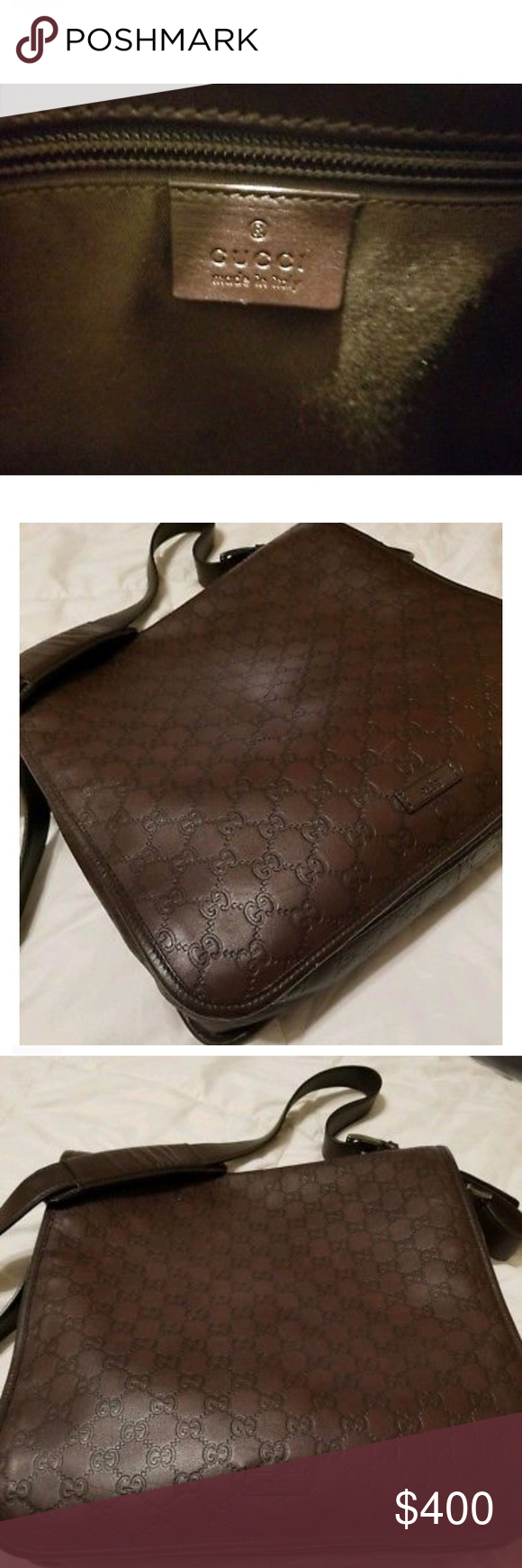 b34152f7607c Gucci Messenger Bag Brown Leather bag. Great Bag didn't wanna sell it Gucci  Bags Messenger Bags