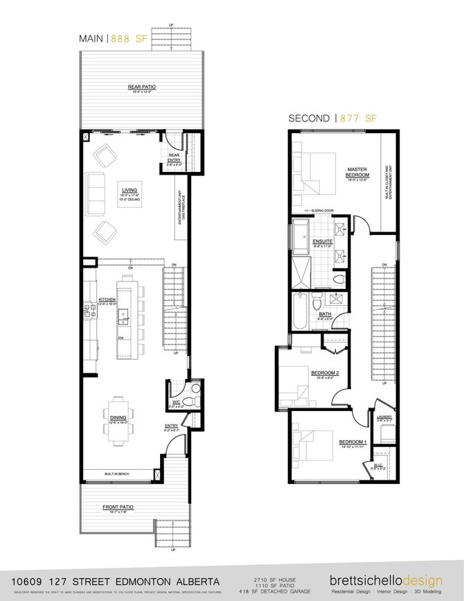 Infill House Design Edmonton | Plans | Pinterest | House, Compact ...