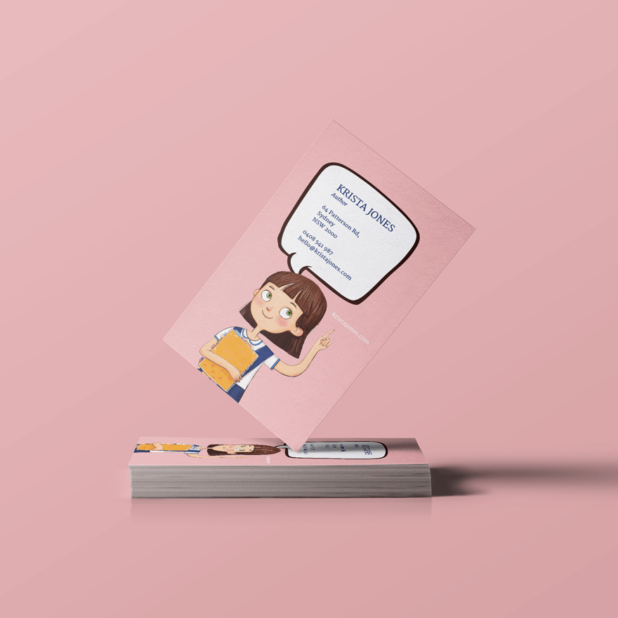 Speech bubble card. A Character\'s business card perhaps. \