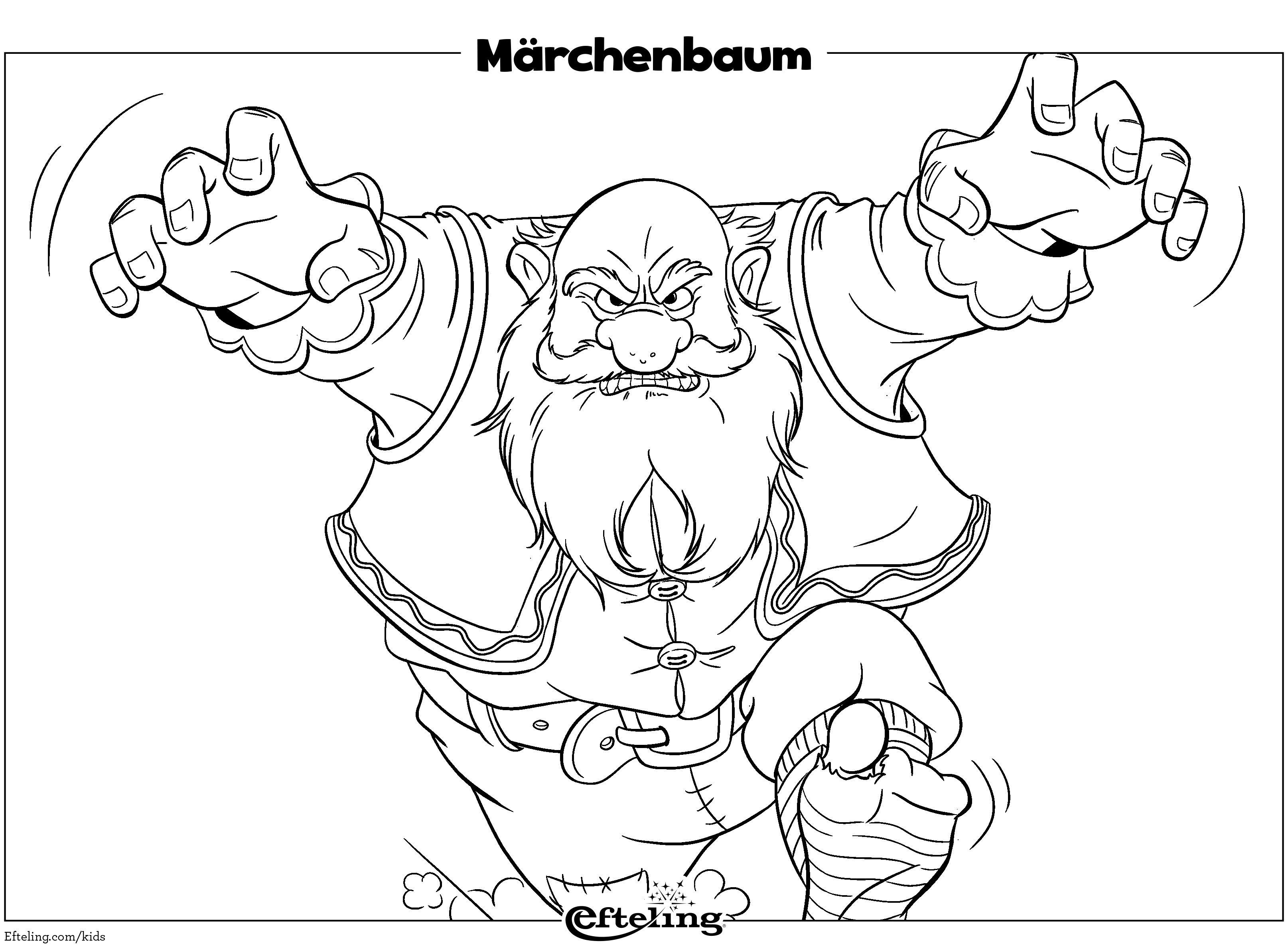 Efteling Malbild für Kinder in 10  Märchenbaum, Ausmalen, Zeichnung