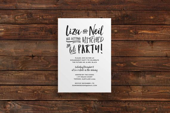 engagement party invitations // engagement party by dunkirkdesigns