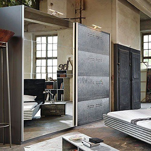 schwebet renschrank industrial optik b 136 cm schrank kleiderschrank kinderzimmer jugendzimmer. Black Bedroom Furniture Sets. Home Design Ideas
