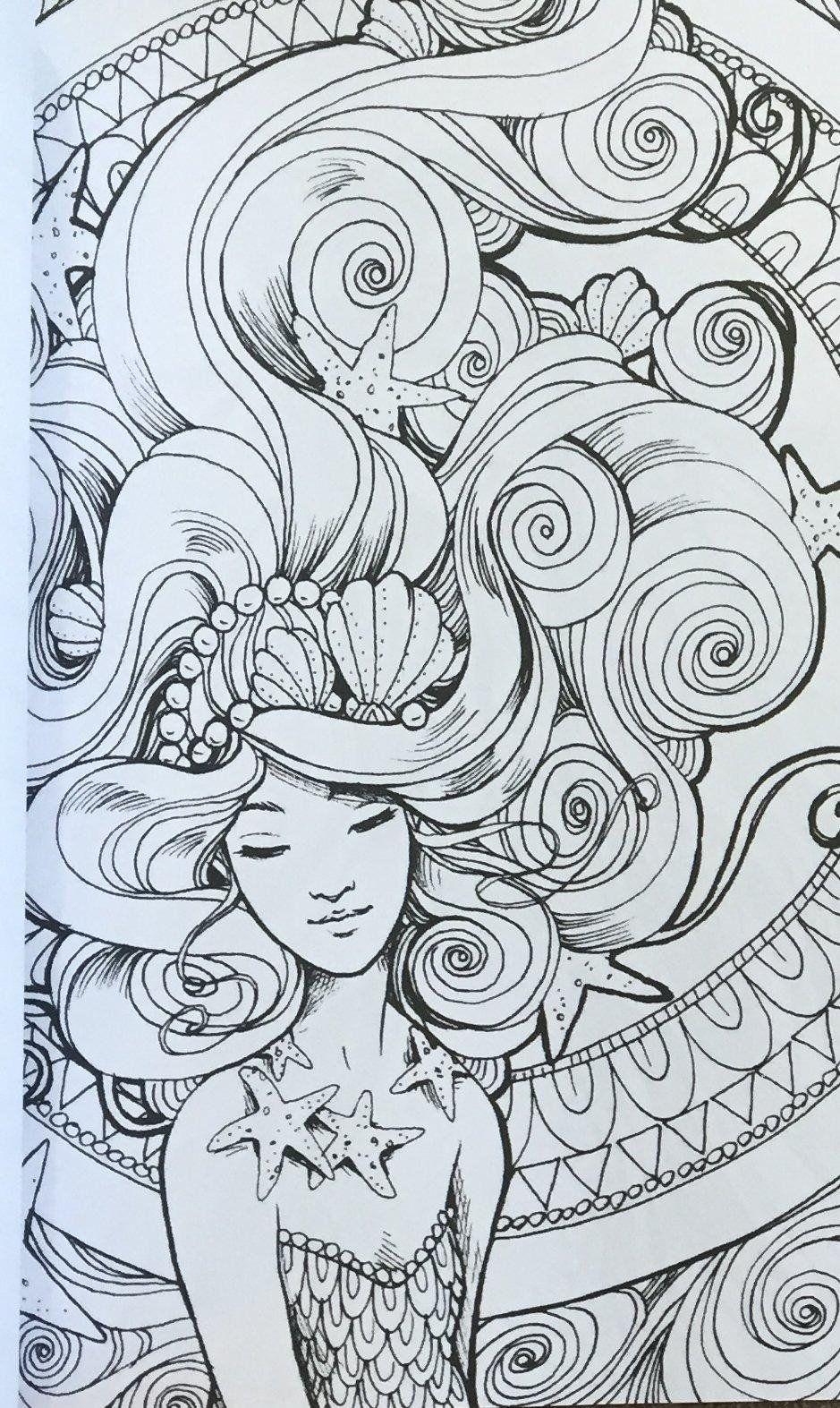 Pin de Cristina B. en Mermaid coloring pages | Pinterest | Imágenes ...