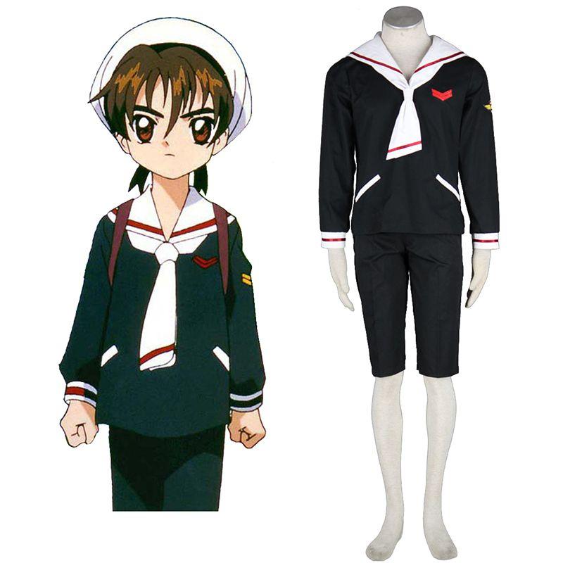 Anime Cardcaptor Sakura LI SYAORAN Cosplay Costume Halloween Full Set Clothing