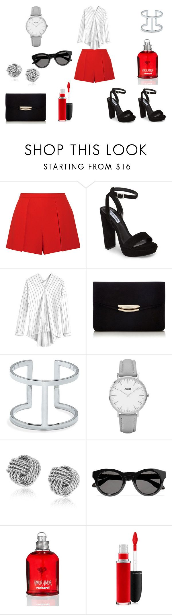 Amor Amor by evitapedraza on Polyvore featuring moda, Alice + Olivia, Steve Madden, CLUSE, Vince Camuto, Givenchy, MAC Cosmetics and Cacharel