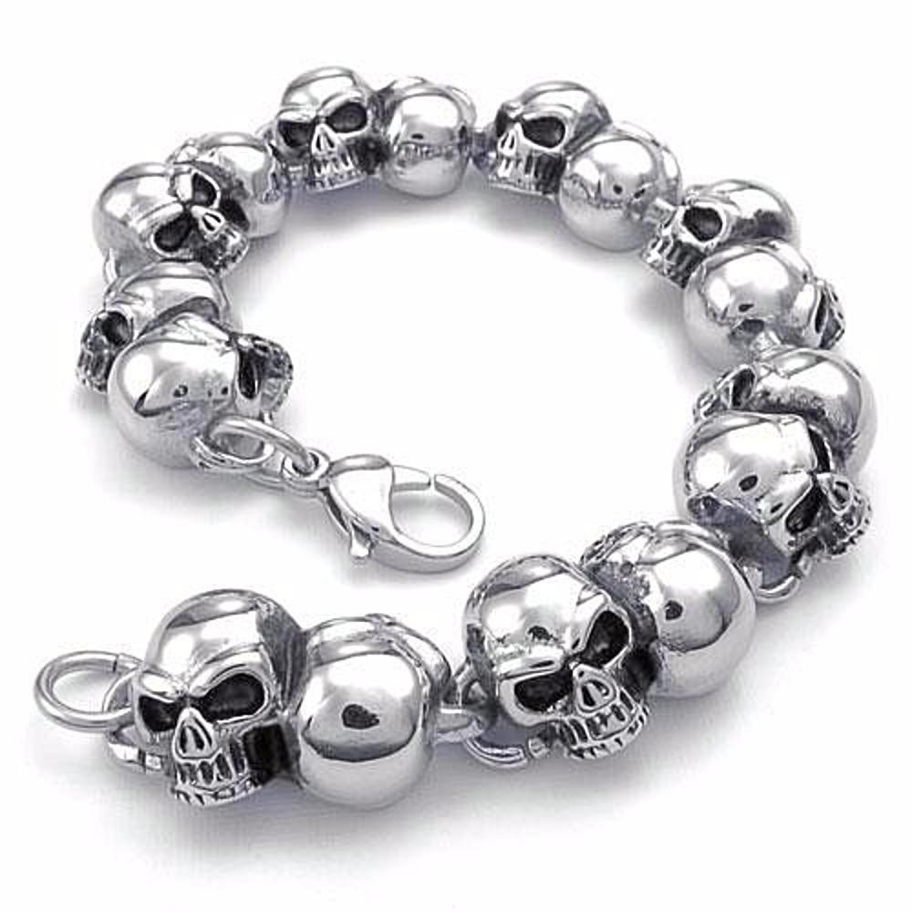 Hardass Skull Bracelet | Products | Pinterest | Skull bracelet ...