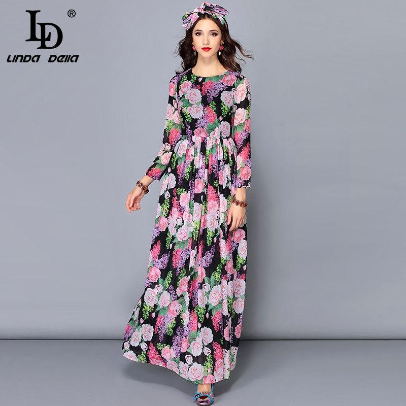 e57e28a29fdd Casual Autumn Maxi Dresses Women s Long Sleeve Belted Chiffon Floral Print  Boho Vacation Holiday Party Long Dress