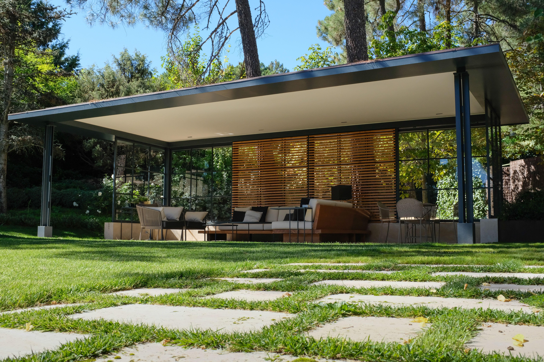 Porche hierro, madera y cristal | salon de jardin | Agrément de ...