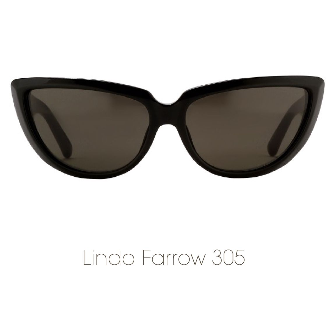 28d64deda5a6 Switching it up this  Caturday with these pointy cat eye sunnies from Linda  Farrow.